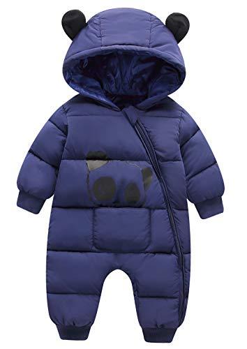 FEOYA Winter Jumpsuit Mantel Mädchen Junge Kapuze...