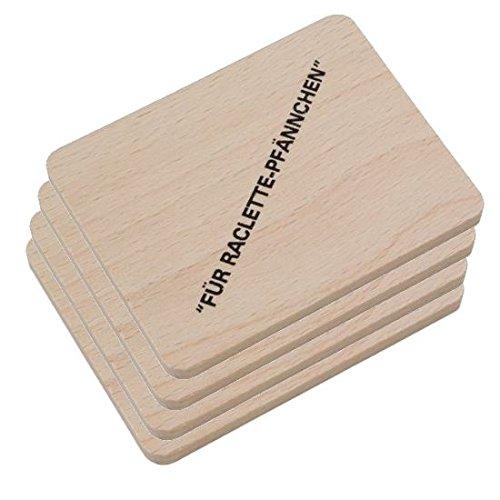 HOFMEISTER® Raclette Zubehör aus Holz, Schaber...