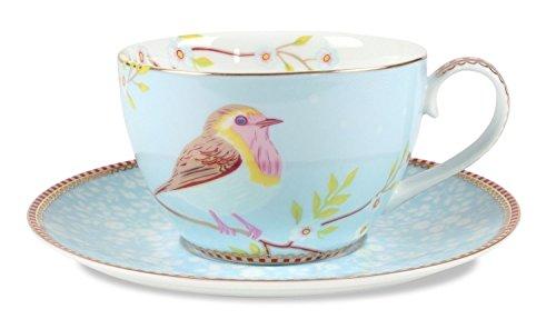 PiP Studio Cappuccino Tasse mit Untertasse | Blau...
