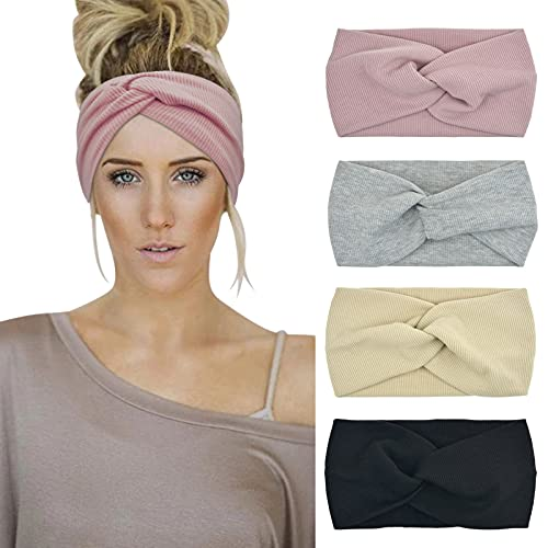 DRESHOW Damen Stirnbänder Kopfwickel Haarband...