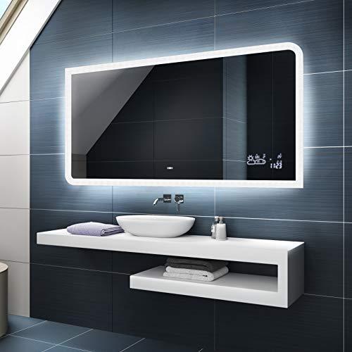 Badspiegel 120x70cm mit LED Beleuchtung - Wählen...