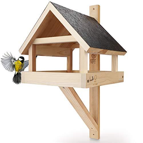 wildtier herz I XL Vogelhaus für die Wand –...