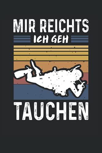 Taucher Notizbuch (liniert) Tauchen Vintage Retro