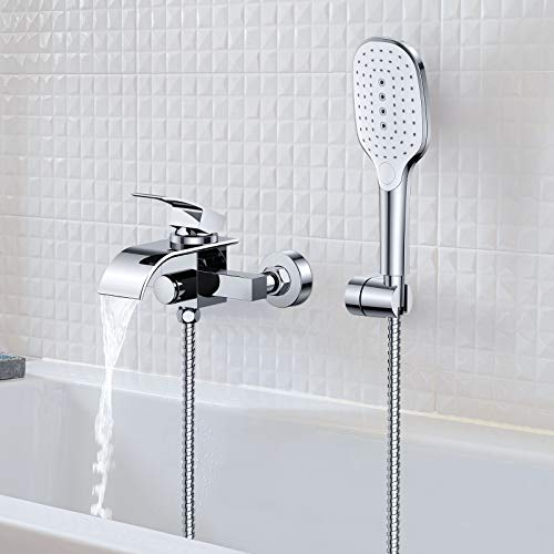 Synlyn Badewannenarmatur Wasserfall Wasserhahn...