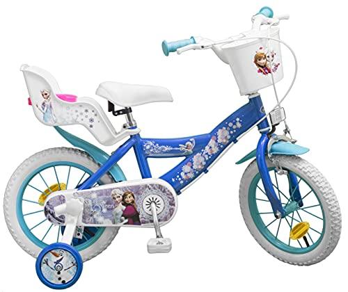 Pik&Roll Girls Frozen Kinderfahrrad 14', blau