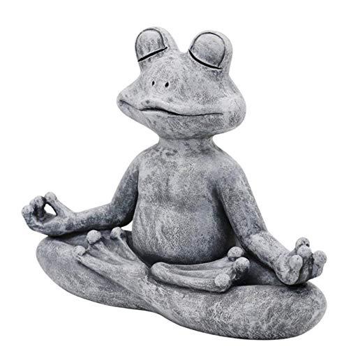SmallYin Gartenstatuen Deko Handarbeit Hund Buddha...