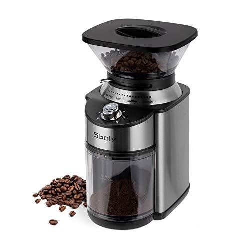 Sboly Elektrische Kaffeemühle, Kaffeemühle mit...