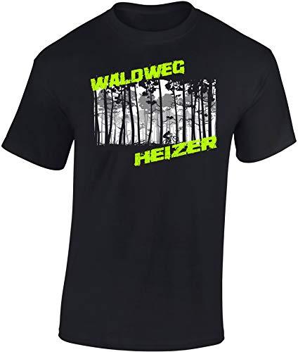 T-Shirt: Waldweg Heizer - Fahrrad Geschenke für...