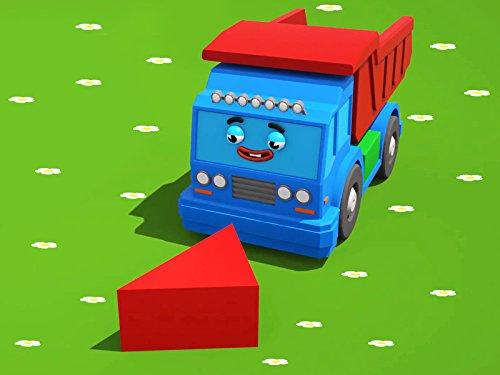 Farben lernen mit grosser Lasrwagen und seine...