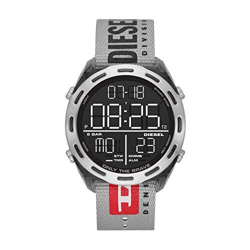 Diesel Herren LCD Digital Uhr mit Nylon Armband...