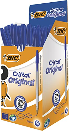 BIC Kugelschreiber Cristal Medium, 50 Kulis in...