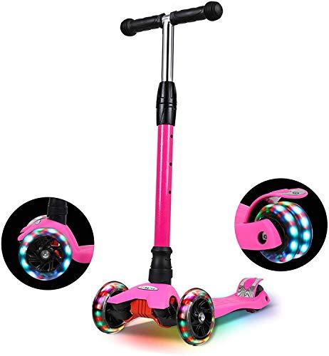 IMMEK Roller Kinder, PU Radstehende Scooter Roller...