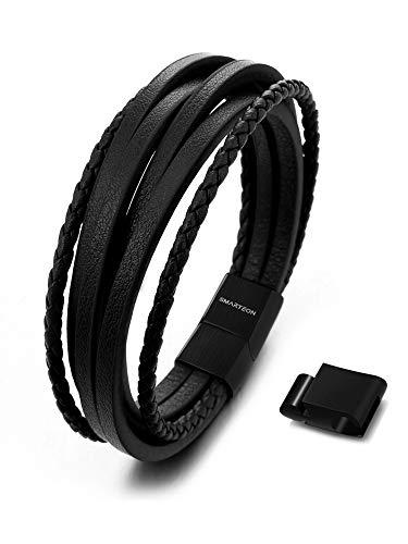 SMARTEON | Premium Echtlederarmband für Männer...