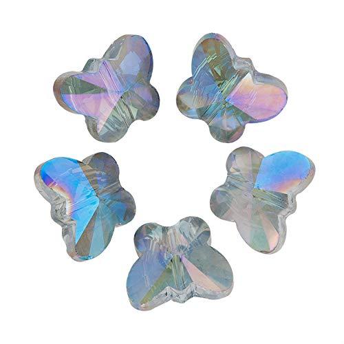 HOULIFE Zubehör 100Stk 10mm Bicolor Glas Perlen...