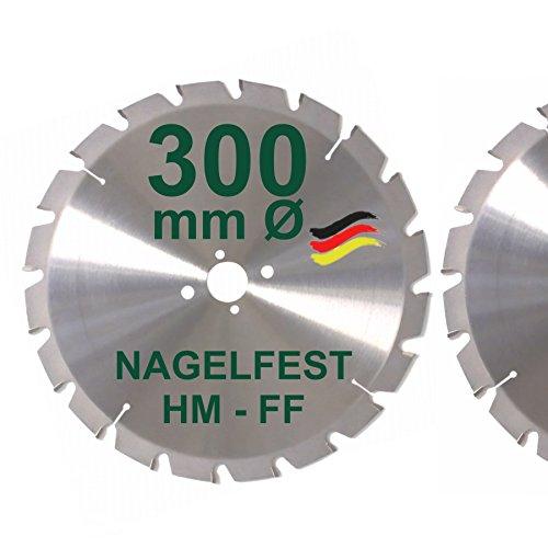 HM Sägeblatt 300 x 30 mm NAGELFEST FF Hartmetall...
