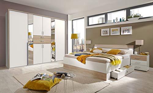lifestyle4living Schlafzimmer Komplett Set in...