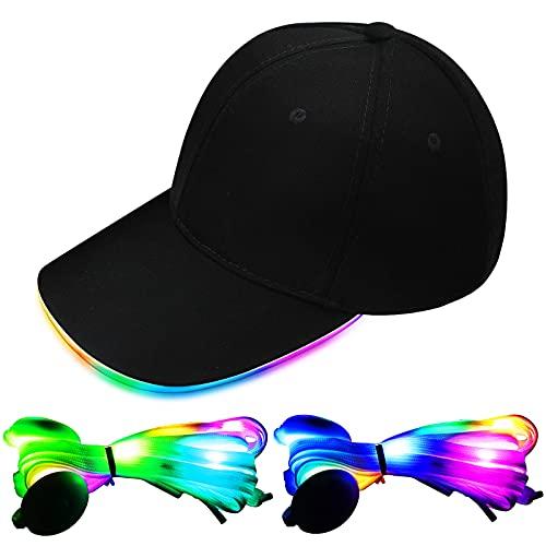 LED-Baseballkappe und Schnürsenkel, beleuchteter...