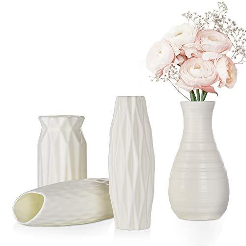 FORMIZON Kunststoff Vasen, 4 Stück Moderne...