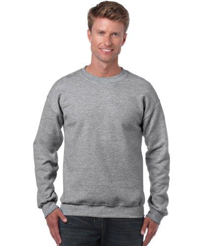 Gildan Herren Sweatshirt, Sport Grey, M