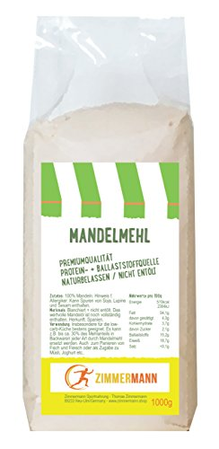 Mandelmehl 1000g - naturbelassen - nicht entölt -...