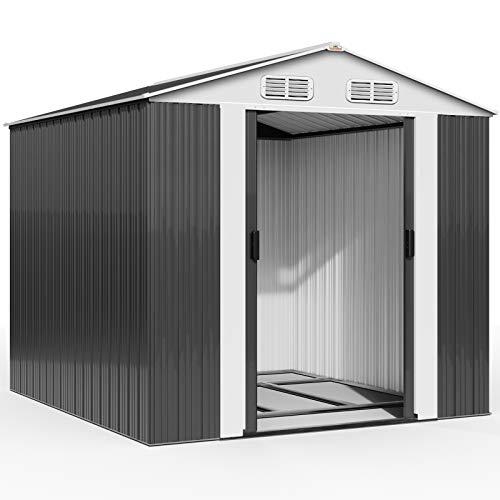 Deuba XXXL Metall Gerätehaus 14,7m³ mit...