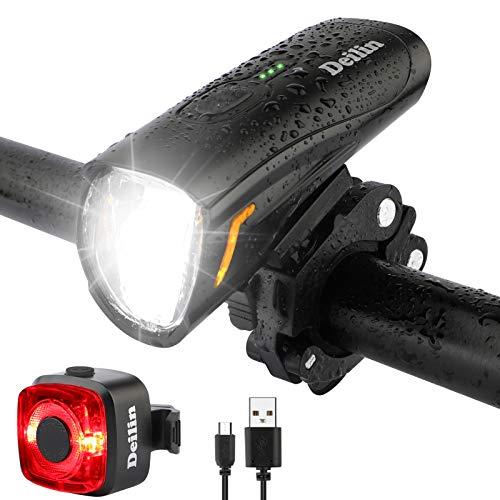 Deilin Upgraded LED Fahrradlicht Set, bis zu 70...
