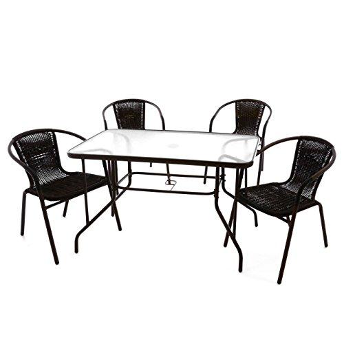 Nexos 5-teiliges Gartenmöbel-Set –...