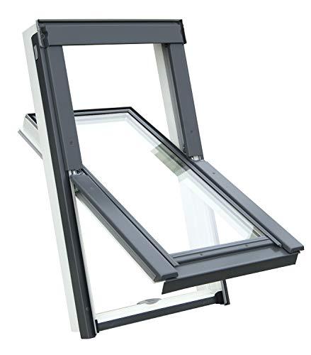 Kunststoff Dachfenster Balio Schwingfenster mit...