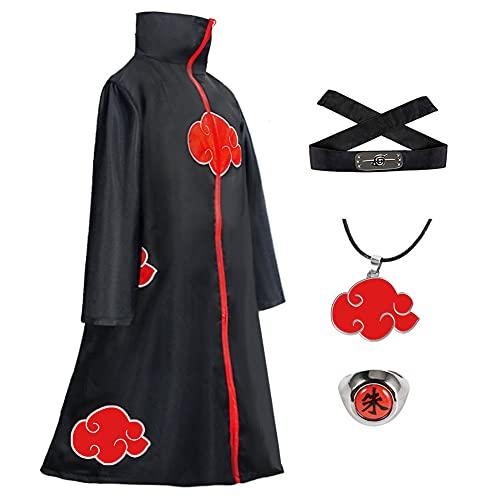 Xinqin 4 Stück Naruto Akatsuki Umhang, Anime...