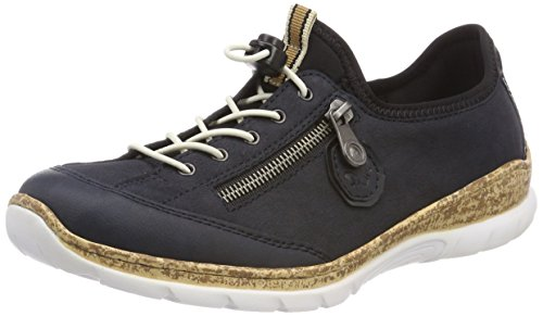 Rieker Damen N4263 Sneaker, Blau...