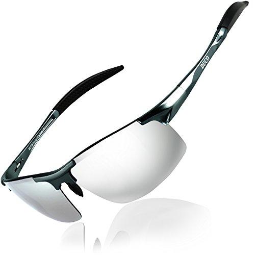 DUCO Herren Sportbrille Polarisierte Sonnenbrille...