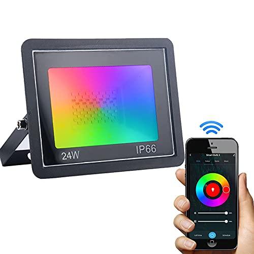 Dogain RGB Strahler 24W Smart LED Strahler Außen,...