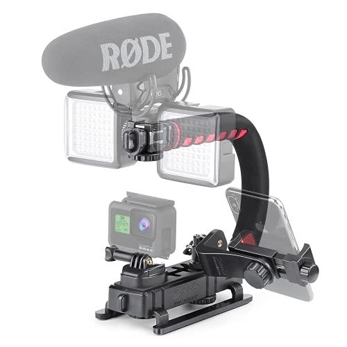 Zeadio Tripel Zubehörschuh Handheld Stabilisator,...