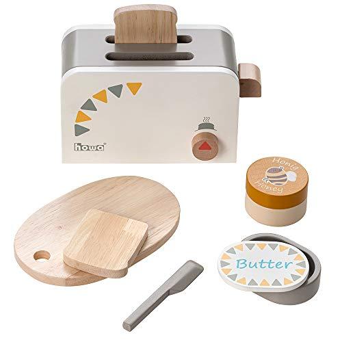 Howa Toaster aus Holz incl. 6 TLG. Zubehör 4886