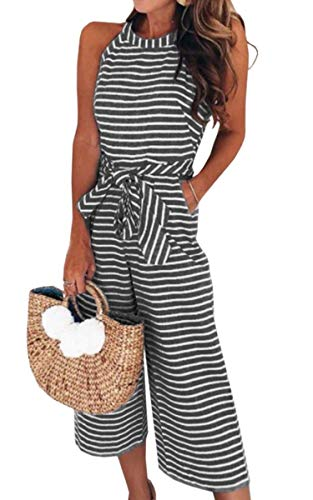 ECOWISH Damen Jumpsuit Sommer Overall Sexy...
