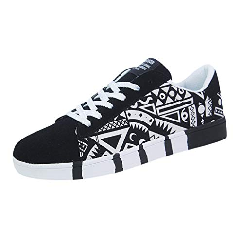 Aoogo Herren Mode Casual Lace-Up Canvas...