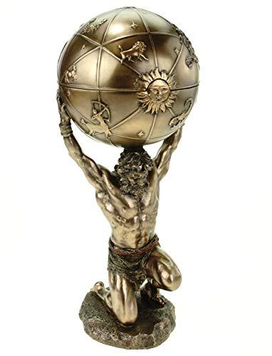 Atlas trägt die Welt auf s.Schultern bronziert...