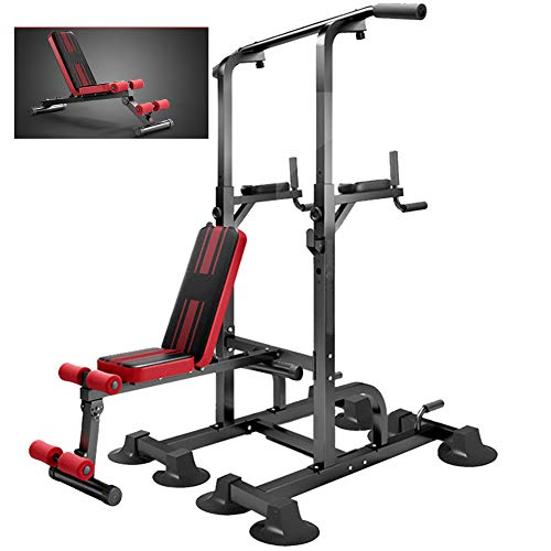 WSHA Power Tower Pull Up Dip Station mit...
