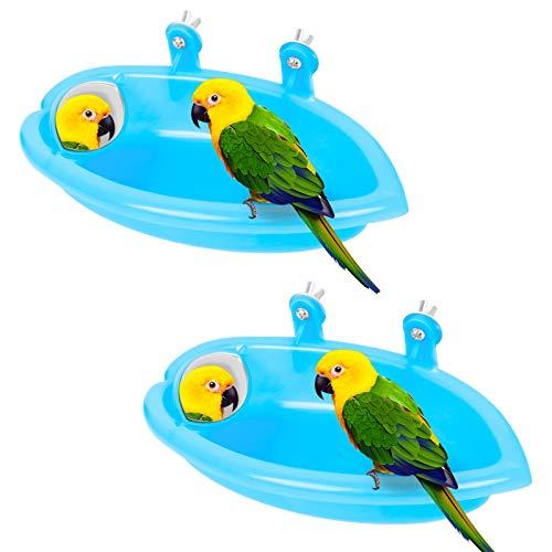 Vogel Dusche Wanne 2Pcs Papagei Badewanne...