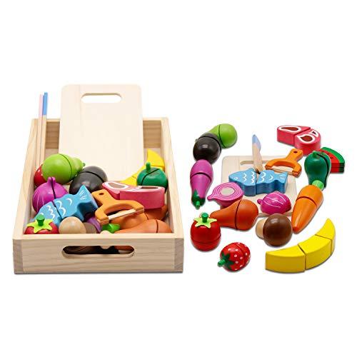 mysunny Holzspielzeug Schneiden, Spielküche...