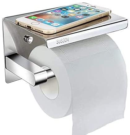 Toilettenpapierhalter Ohne Bohren mit Ablage,...