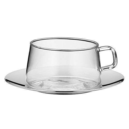 WMF TeaTime Teeglas mit Untertasse Tee-Tasse,...