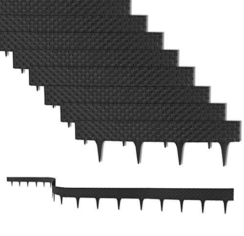 9,6 m Rasenkante mit 12 Elemente 80 cm - Biegbarer...