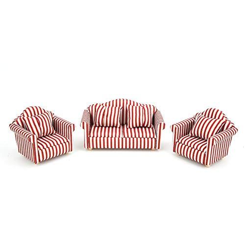 Puppenhaus Sofa, 1/12 Mini Puppenhaus Dekoration...