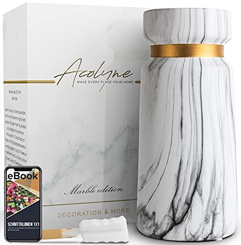Acolyne® Premium Vase Weiß aus Hochwertigen...