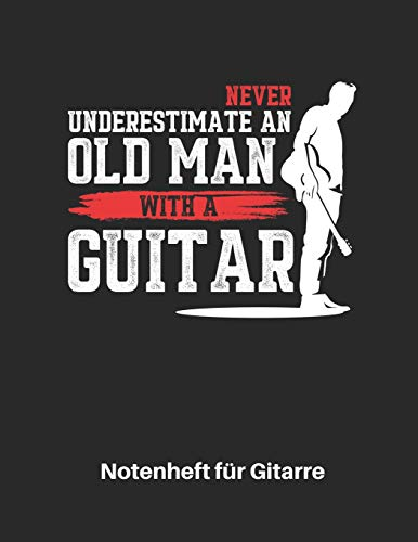 Notenheft für Gitarre: Akustik Gitarren Notenbuch...