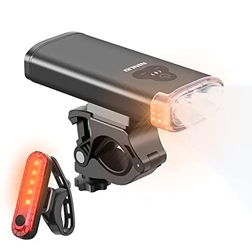 NINUO 2021 Neueste Fahrradlicht Set - 1800 Lumen...