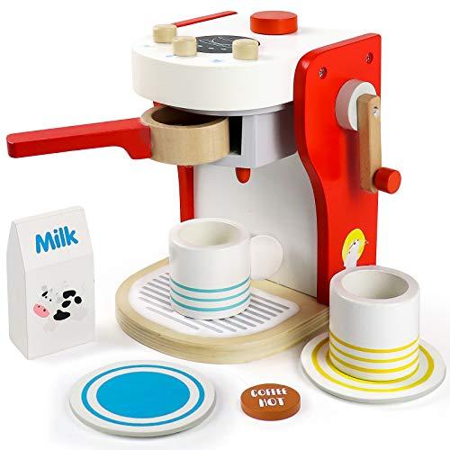 Kaffeemaschine Kinder Holz Rollenspiel...