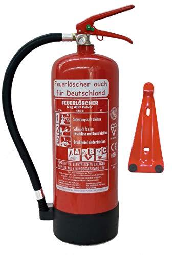 Feuerlöscher 6kg ABC Pulverlöscher mit Manometer...