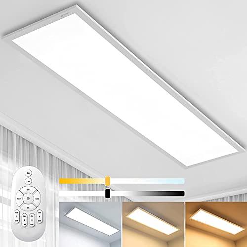 Dimmbar LED Deckenleuchte Panel 100x25 cm mit...